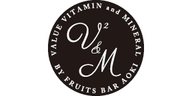 V2&M by Fruits Bar AOKIロゴ画像